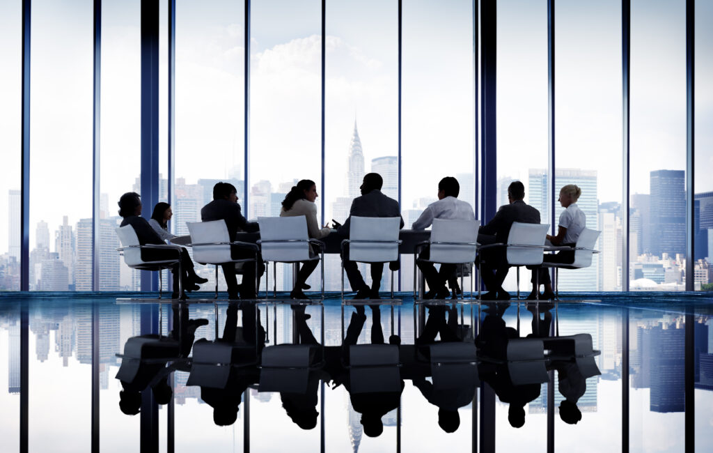 Table with business people